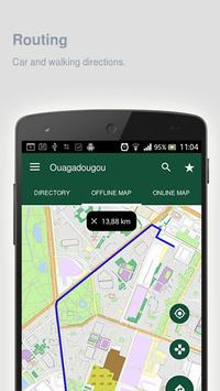 Ouagadougou Map offline apk screenshot
