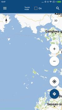 Incheon Map offline poster