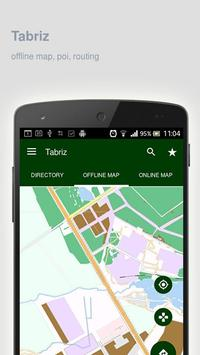 Tabriz Map offline poster