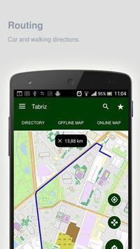 Tabriz Map offline apk screenshot