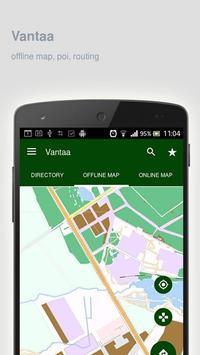 Vantaa Map offline poster