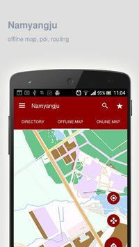 Namyangju Map offline poster