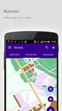 Manado Map offline poster