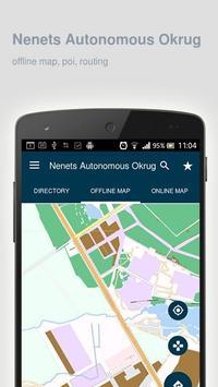 Nenets Autonomous Okrug Map poster