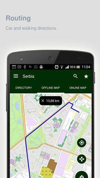 Serbia Map offline apk screenshot
