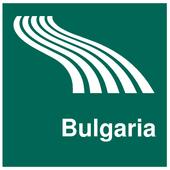Bulgaria Map offline icon