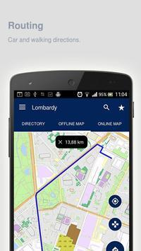 Lombardy Map offline apk screenshot