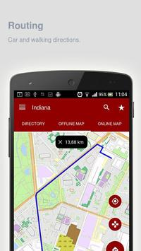Indiana Map offline apk screenshot