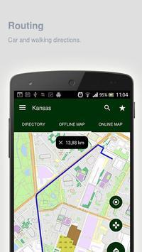 Kansas Map offline apk screenshot