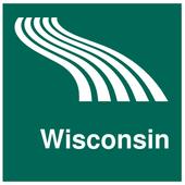Wisconsin Map offline icon