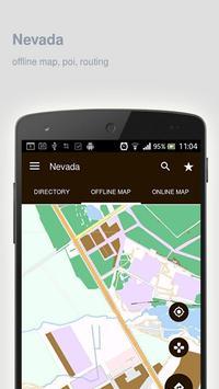 Nevada Map offline poster