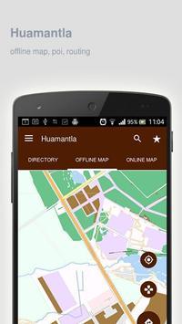 Huamantla Map offline poster