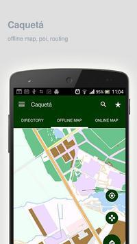 Caquetá Map offline poster