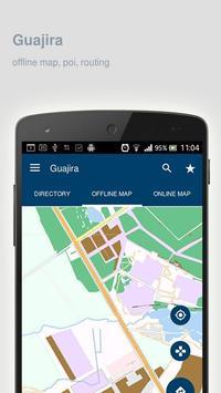 Guajira Map offline poster