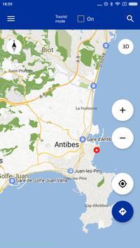 Antibes Map offline poster