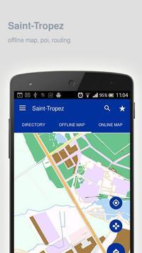 Saint-Tropez Map offline poster