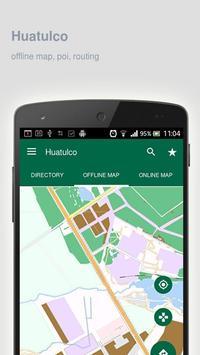 Huatulco Map offline poster