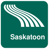 Saskatoon Map offline icon