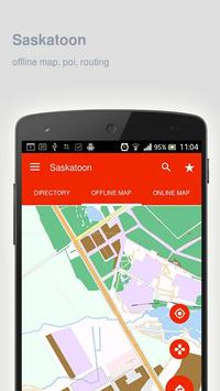 Saskatoon Map offline poster