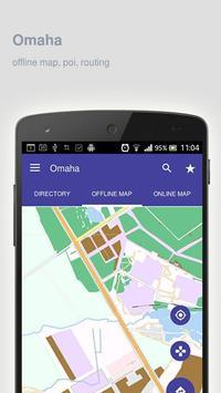 Omaha Map offline poster