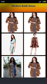 Modern Batik Dress poster