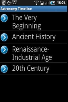 Astronomy Timeline poster
