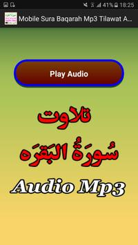 Mobile Sura Baqarah Mp3 Audio apk screenshot