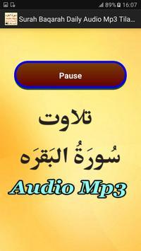 Surah Baqarah Daily Audio Mp3 apk screenshot