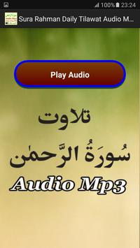 Sura Rahman Daily Audio Free apk screenshot