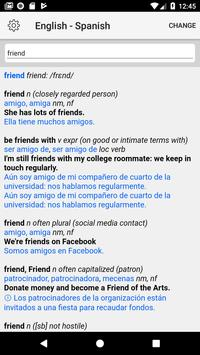 Spanish-English Dictionary screenshot 1