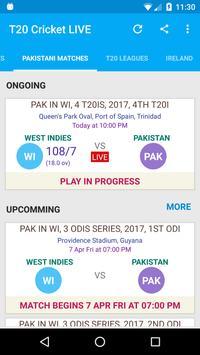 T20 Cricket LIVE - MobCric apk screenshot