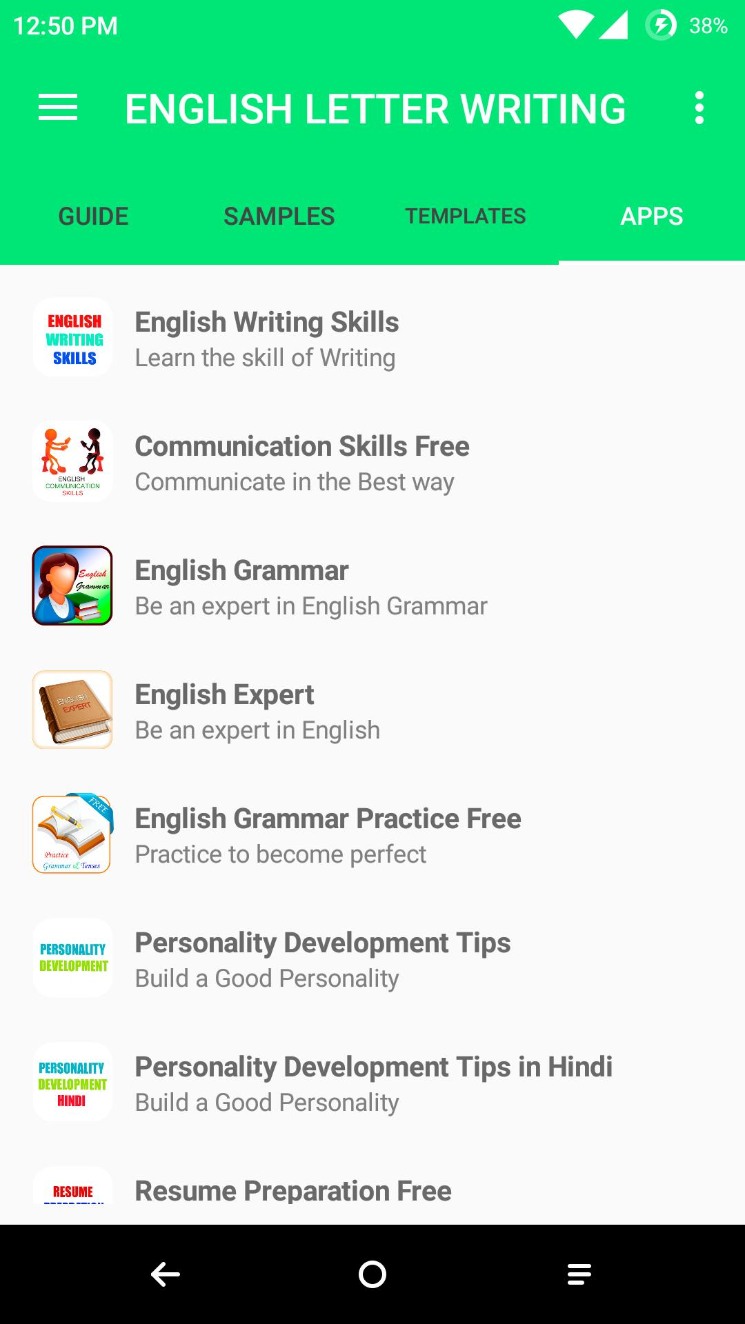 English Letter Writing for Android - APK Download
