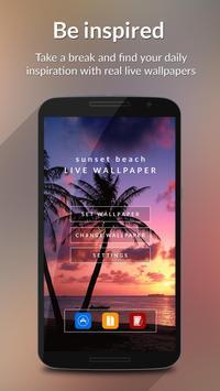 Sunset Beach HD Live Wallpaper Poster