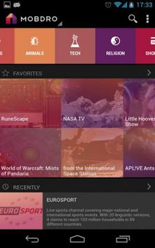 Mobdro apk screenshot