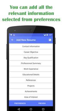 quick resume builder apk download - free productivity app for ... - Free Quick Resume Builder