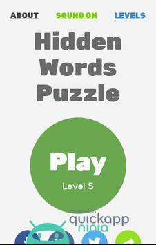 Hidden Words Puzzle apk screenshot