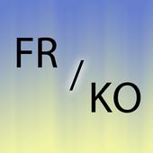 Korean French translator icon