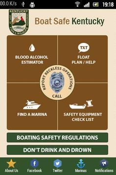 BOAT SAFE KENTUCKY poster