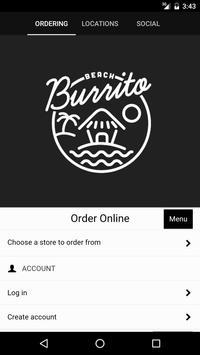 Beach Burrito Company poster