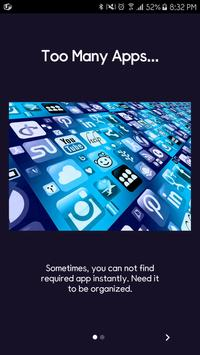 Quick App - organize apps! poster