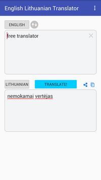 English Lithuanian Translator screenshot 1
