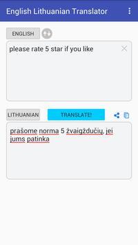 English Lithuanian Translator screenshot 2
