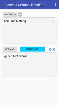 Indonesian German Translator screenshot 2