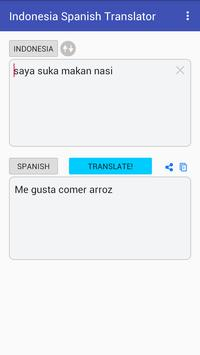 Indonesian Spanish Translator apk screenshot