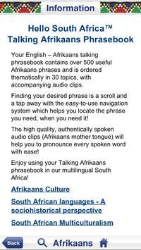 Afrikaans Audio Phrasebook screenshot 1