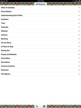 Afrikaans Audio Phrasebook screenshot 7