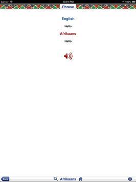 Afrikaans Audio Phrasebook screenshot 9