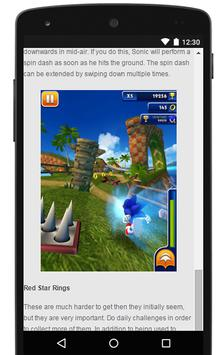 Guide For Sonic Dash apk screenshot