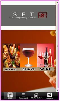 SET Contemporary Cuisine poster