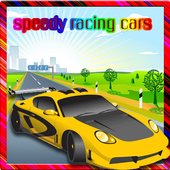 Speedy racing cars icon